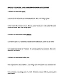 Speed, Velocity, Acceleration Practice Test with Answer Key