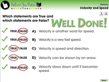 Motion: Velocity and Speed - NOTEBOOK Gr. 5-8