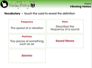 Motion: Vibrating Motion - NOTEBOOK Gr. 5-8