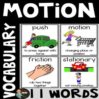 Motion Vocabulary Word Posters