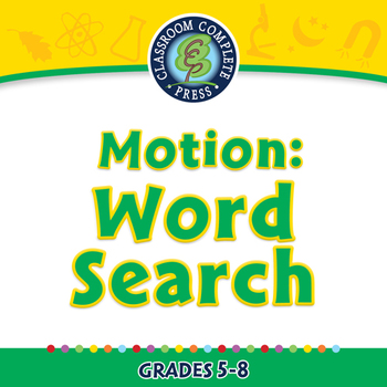 Motion: Word Search - NOTEBOOK Gr. 5-8