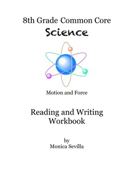 Motion and Forces Common Core 8th Science Workbook