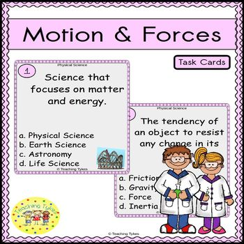 Motion and Forces Task Cards