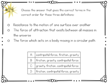 Motion and Forces Task Cards Speed Velocity Acceleration Force Digital
