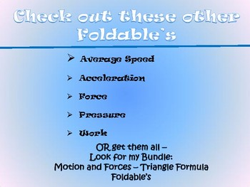 Motion and Forces - Density Foldable