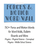 Motion and Forces Word Wall- Physics and Physical Science
