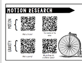 Motion and Gravity QR Code Research Activity