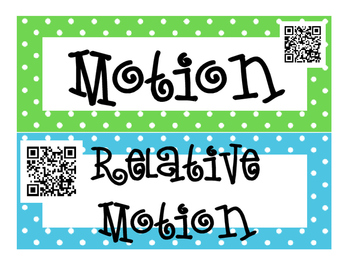 Motion and Momentum INTERACTIVE Word Wall