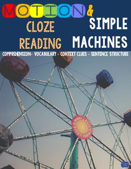 Motion and Simple Machines Cloze Reading Activity Bundle