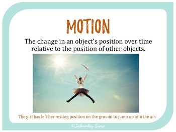 Motion and Speed - 6th Grade Vocabulary