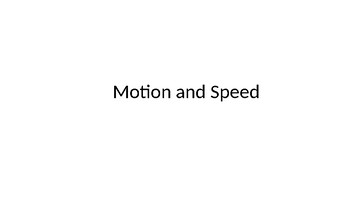 Motion and Speed Review Questions