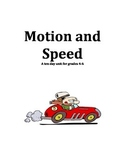 Motion and Speed Unit Plan