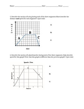 Motion graphs quiz