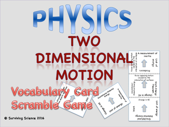 Motion in Two Dimensions: Physics Vocabulary Scramble Game