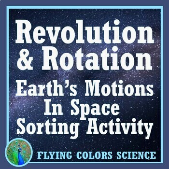 Earth's Motion in Space (Rotation Revolution) Cut Out Activity NGSS MS-ESS1-1