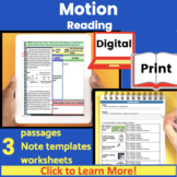 Motion (speed, acceleration, graphs) Guided Reading   Close Read