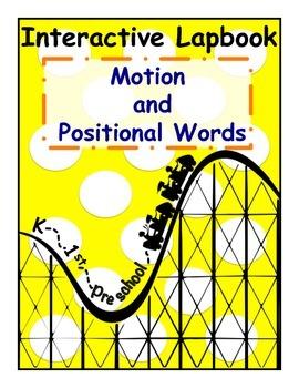 Motion/Positional Words Interactive Lapbook for PreK, K, & 1st Grades