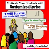 Customized Song Lyrics To MOTIVATE    Middle School Class Sing-ALONG