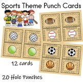 Sports Theme Punch Cards Motivate Students