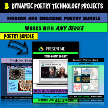 Motivate and Engage:  Digital Poetry Project Bundle
