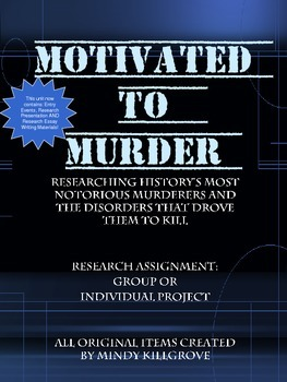Motivated to Murder: Researching Famous Criminals