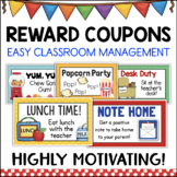 Reward Coupons for Positive Behavior Management - Student Motivators