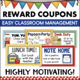 Classroom Reward Coupons Behavior Management Student Incentives