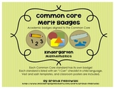 "Kindergarten Common Core Math Badges, with ""I Can"" Checklists"