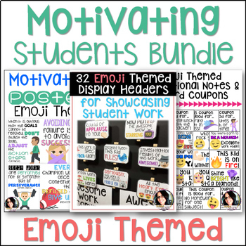Motivating & Inspiring Students Emoji Themed Bundle