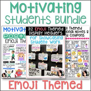 Motivating & Inspiring Students Emoji Themed Bundle