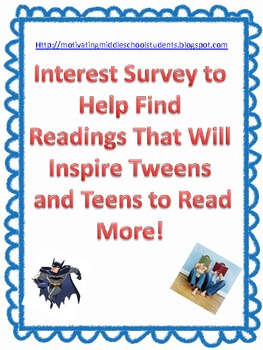 Motivating Readers using an interest inventory