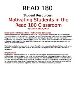 Motivating Students in the Read 180 Classroom