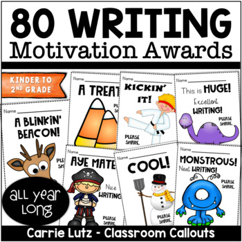 Motivating Writers - 20 Themed Writing Awards that Really Motivate