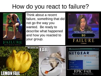 Motivation Mini-lesson:  Mindset Theory---Learn how to fail!
