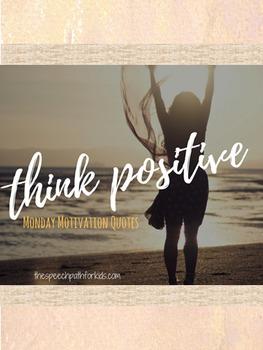 Motivation Monday Quotes & Writing templates - FREEBIE