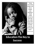 Urban Motivational Poster #4 (8.5 X 11)  Education-The Key