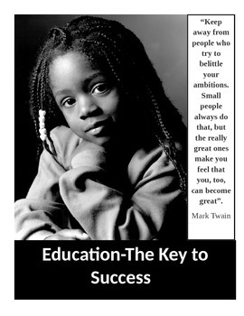 Urban Motivational Poster #4 (8.5 X 11)  Education-The Key