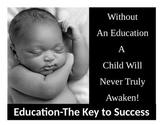 Urban Motivational  Poster # 5 (8.5 X 11) Education- the K
