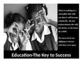 Urban Motivational Poster #6 (8.5 X 11) Education The Key