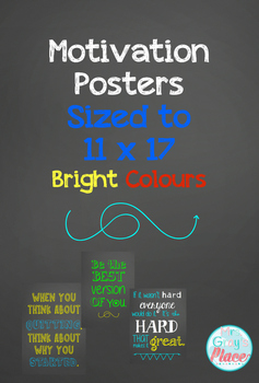 Growth Mindset Posters (Brights, 11x17)