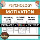 Motivation - Psychology Interactive Note-taking Activities