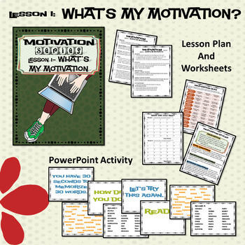 Motivation Small Group or Classroom Lesson Executive Functioning Bundle