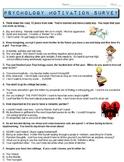 Psychology Motivation Survey (Need for Achievement, Power,