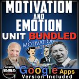 Motivation and Emotion Unit: PPTs, Worksheets, Plans, Test + Distance Learning