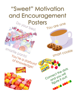 Motivation and Encouragement Posters (Sweets/Chocolate Themed)