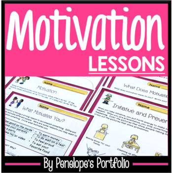 MOTIVATION Character Education Packet