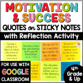 Motivation and Success Quotes on Sticky Notes