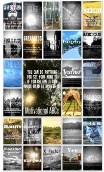 Motivational/Growth-Mindset ABCs Posters for Classrooms or Schools - volume one