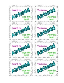 Motivational Airhead Candy Cards