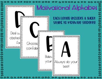 Growth Mindset Motivational Alphabet